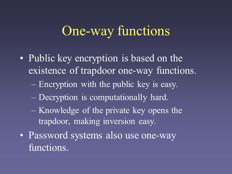 Overview of RSA RSA is the most common and well-known public key cryptosystem Basic notation: a key pair (e,d) contains two keys: –e is the public key (used to encrypt documents) –d is the private key (used to decrypt documents) M is the plaintext message.