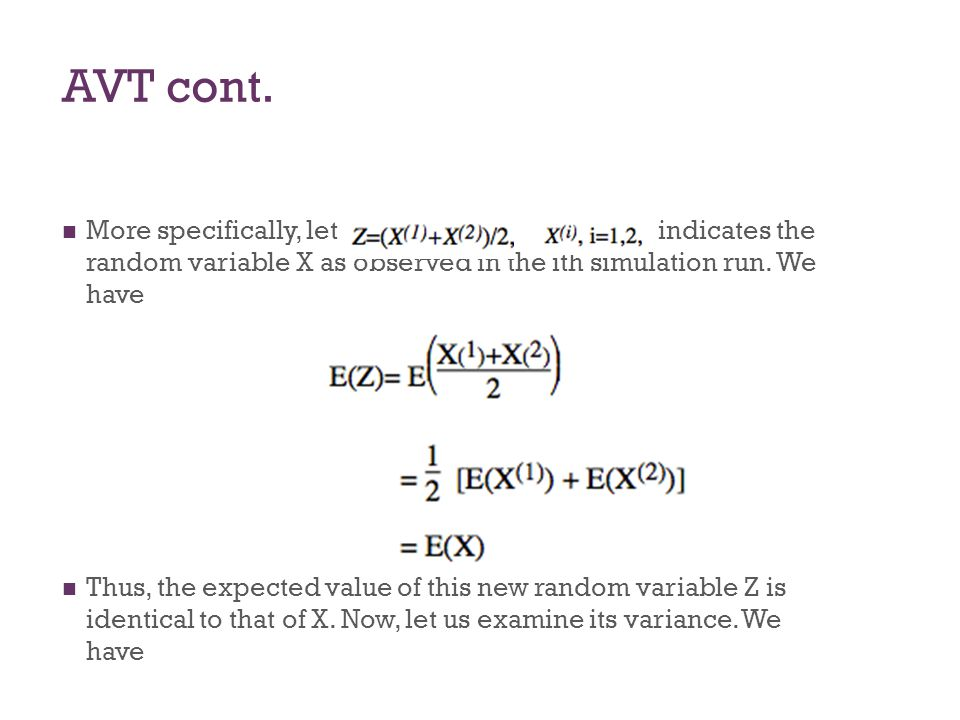AVT where ρ is the correlation between X(1) and X(2)