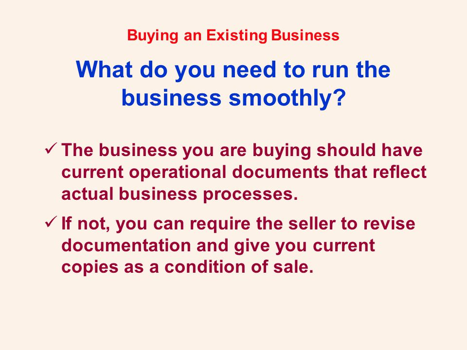 Buying an Existing Business.Let Us Help You... Robert H.