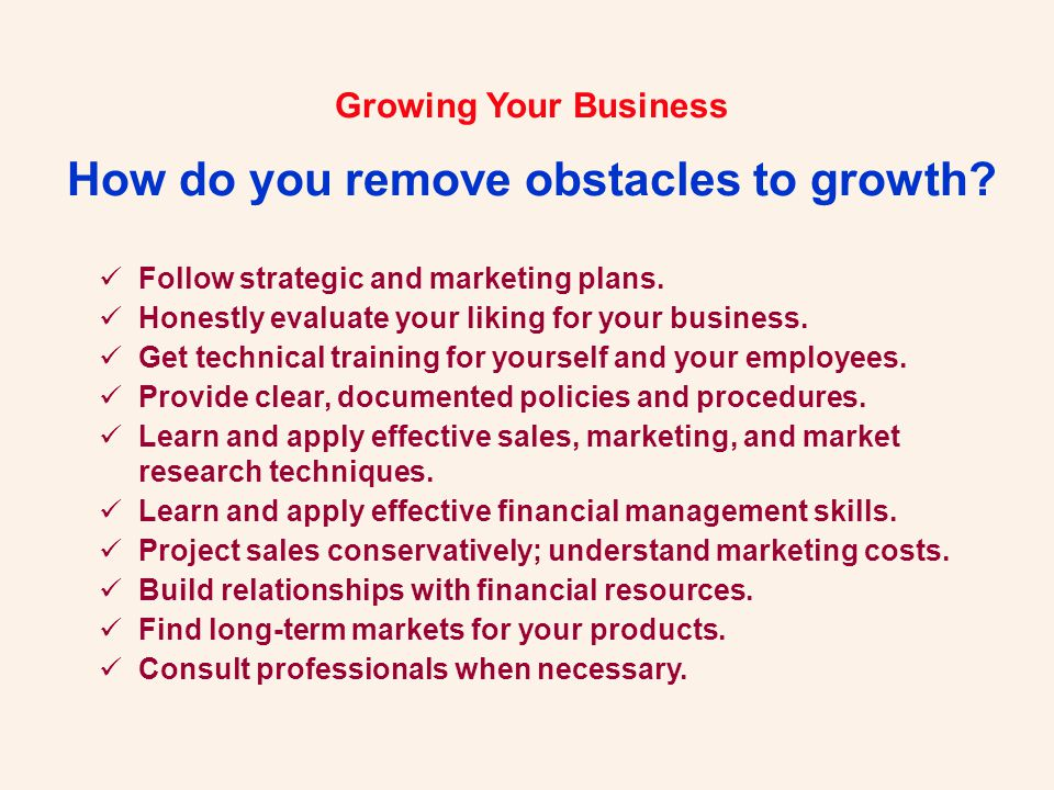 Growing Your Business.Let Us Help You... Robert H.