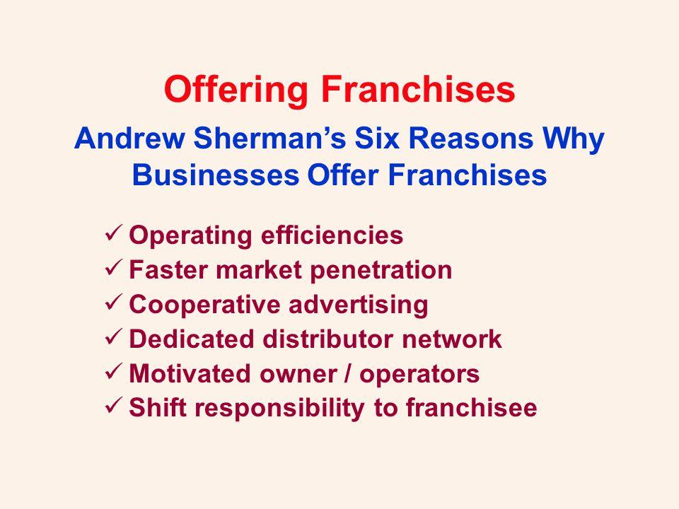 Offering Franchises What must franchisors provide.