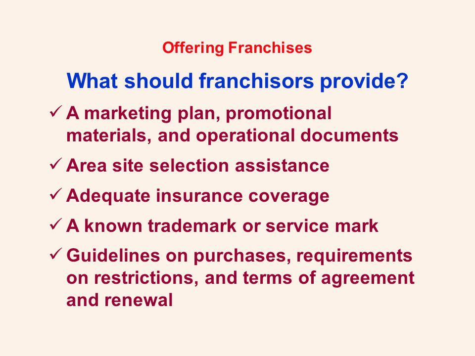 Offering Franchises.Let Us Help You... Robert H.