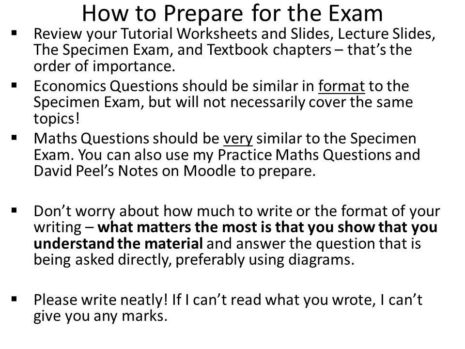 Important Details about the Exam What to know:  Check your timetable for Exam time and location.