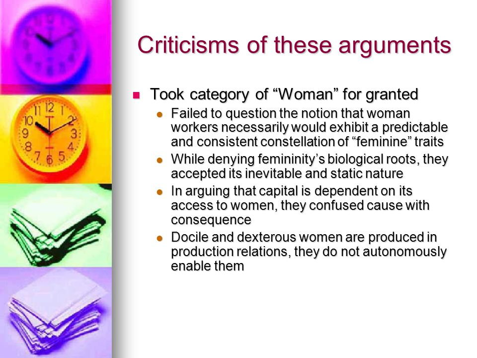 This Author's Arguments Gender is indeed a fundamental element of global production but not in the way that these authors claim Gender is indeed a fundamental element of global production but not in the way that these authors claim Femininity is a trope Femininity is a trope A structure of meaning through which workers, potential and actual, are addressed and understood, and around which production itself is designed A structure of meaning through which workers, potential and actual, are addressed and understood, and around which production itself is designed