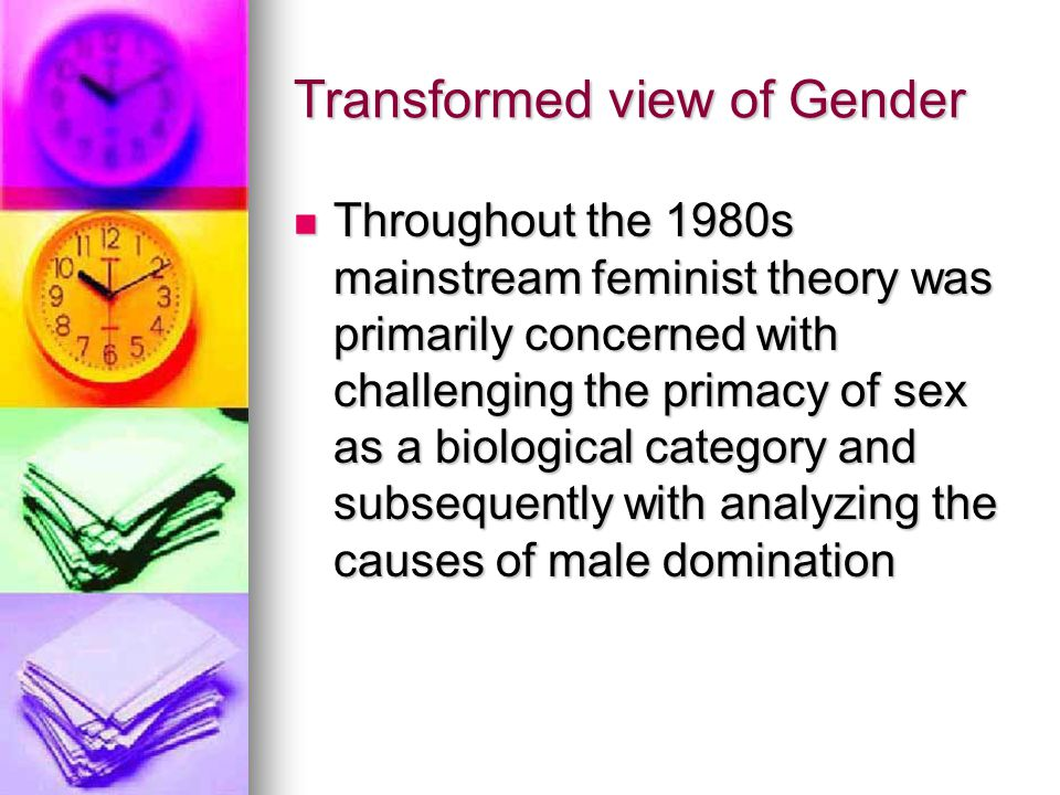 Results Gender's fundamental inconsistency, malleability, and fragmentation disappeared from view Gender's fundamental inconsistency, malleability, and fragmentation disappeared from view Wide differences in gendered meanings received little empirical attention or analysis Wide differences in gendered meanings received little empirical attention or analysis Commonalities between women of differing class, race, and other social locations were exaggerated as well as the level of consistency in individual women's experience of gender over the course of a lifetime or across social arenas Commonalities between women of differing class, race, and other social locations were exaggerated as well as the level of consistency in individual women's experience of gender over the course of a lifetime or across social arenas