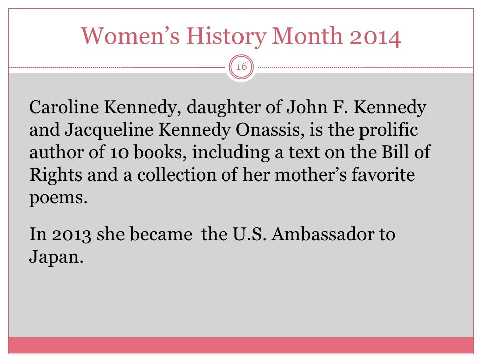 Women's History Month 2014 17 Japan is one of the United States most important trading and military partners.