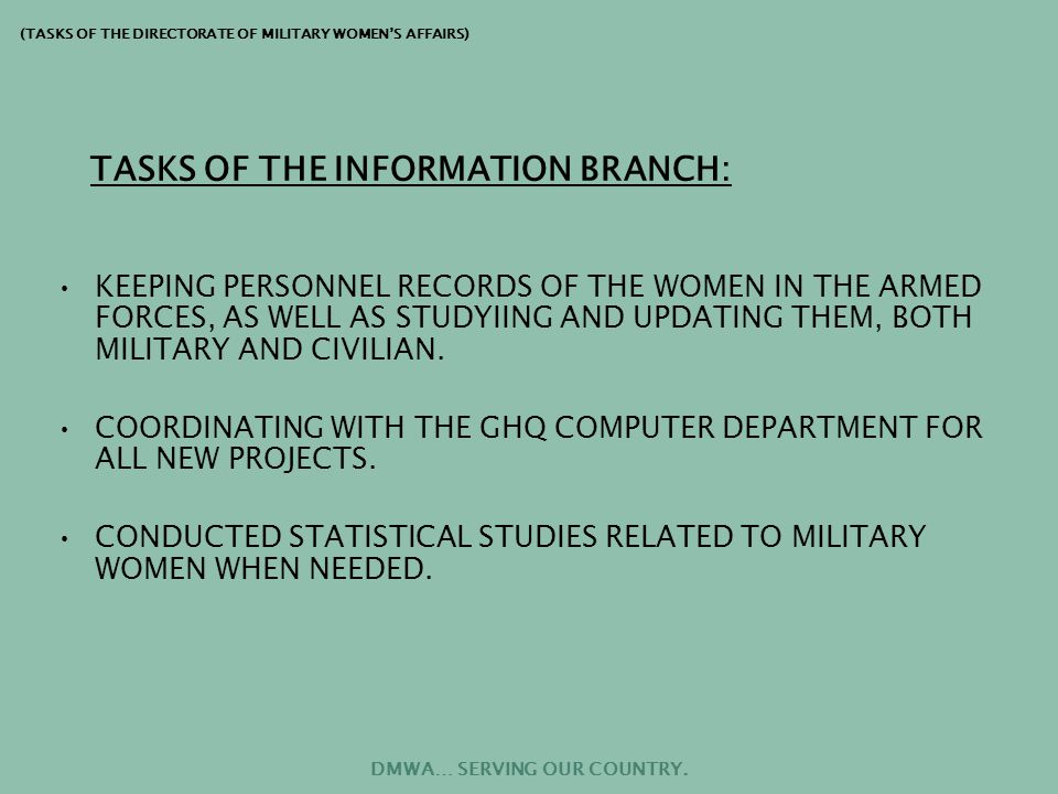 MONITORING THE RECORDS OF DISCIPLINARY VIOLATIONS IN EACH UNIT, THROUGH THE ROYAL MILITARY POLICE.