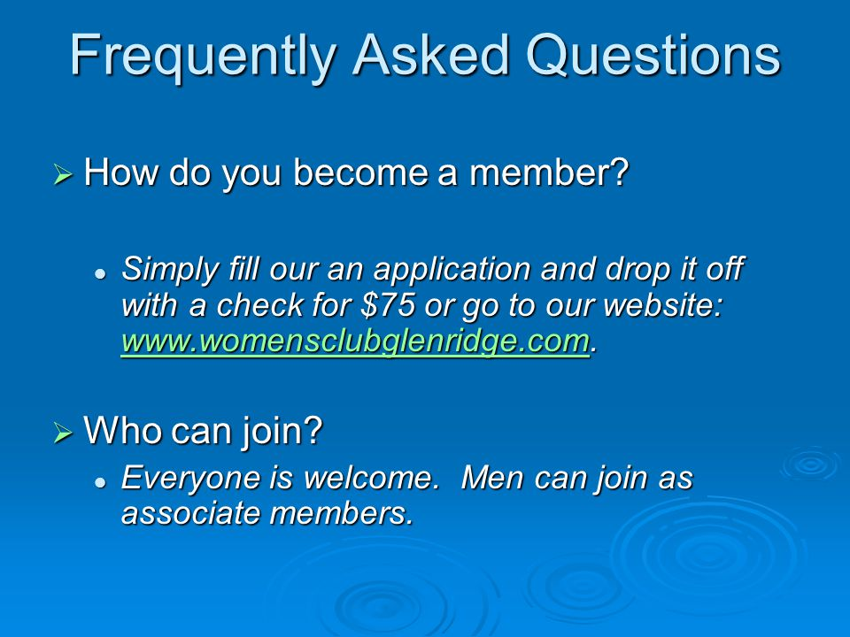 Frequently Asked Questions  What are the obligations of a member.