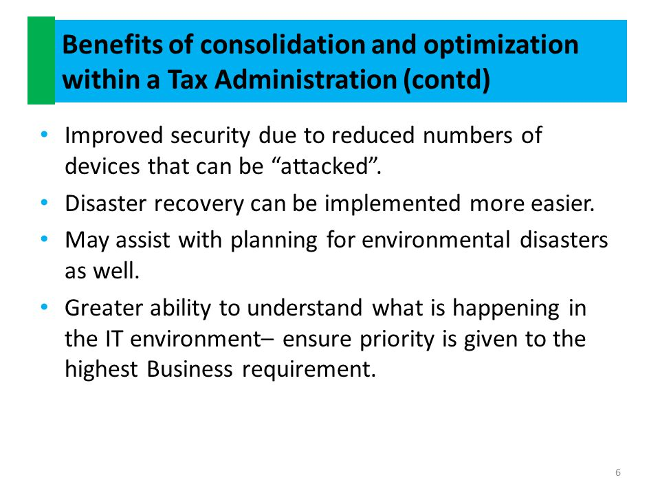 How do you start a consolidation and optimization program of work.