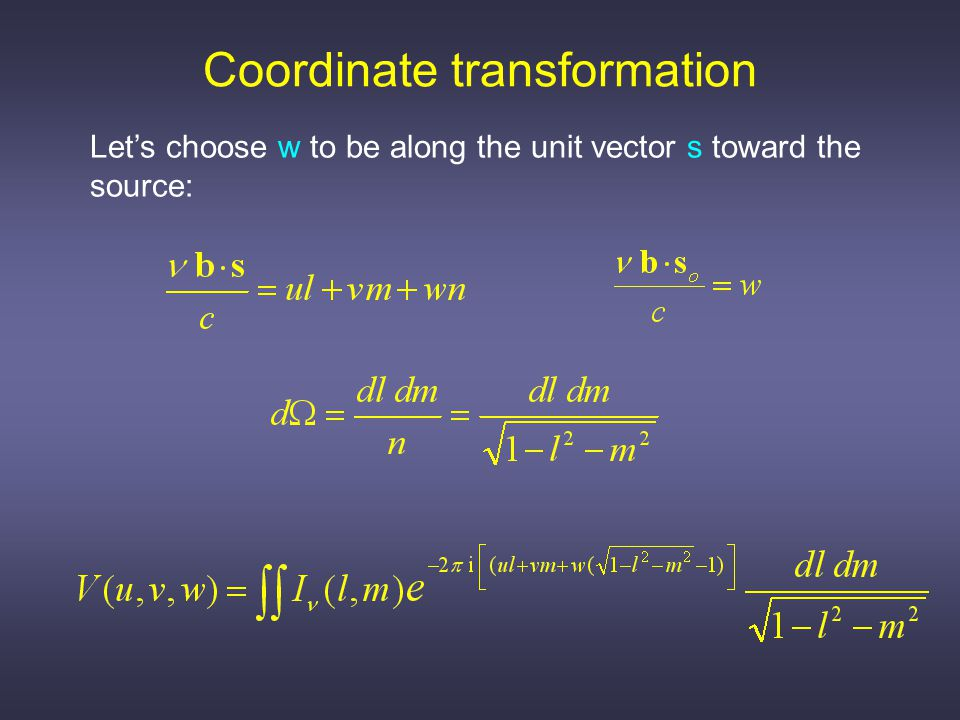 If |l| and | m | are small, we have 2D Fourier Transform!