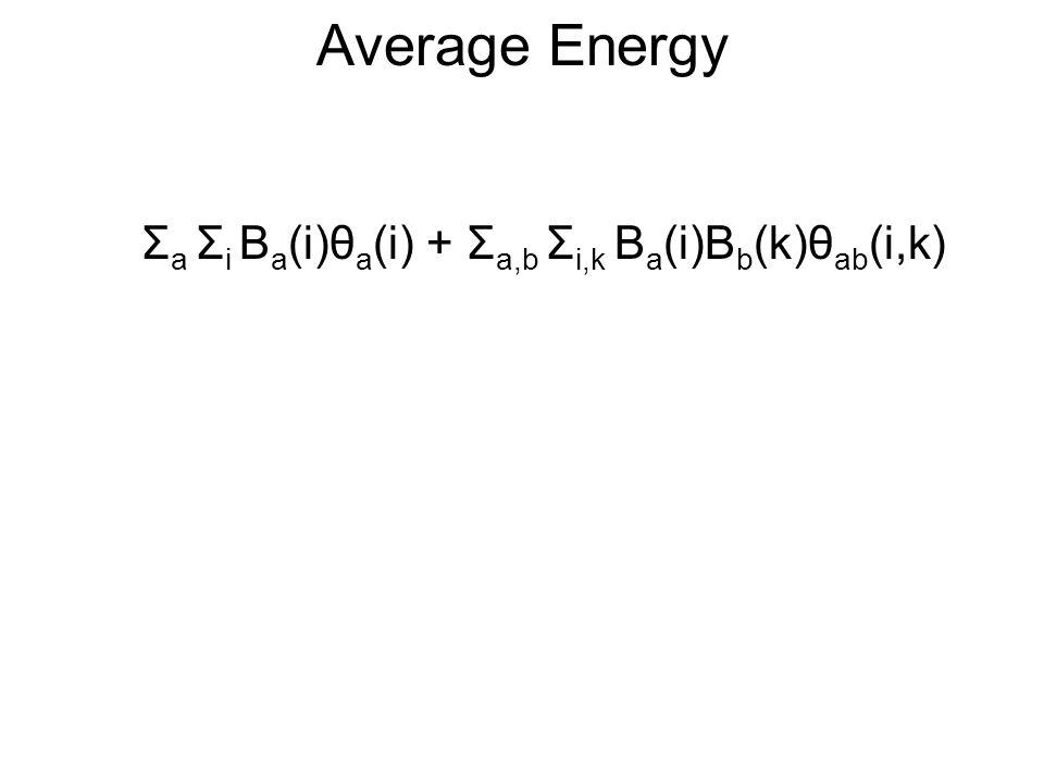 Negative Entropy Σ v B(v) log (B(v)) *