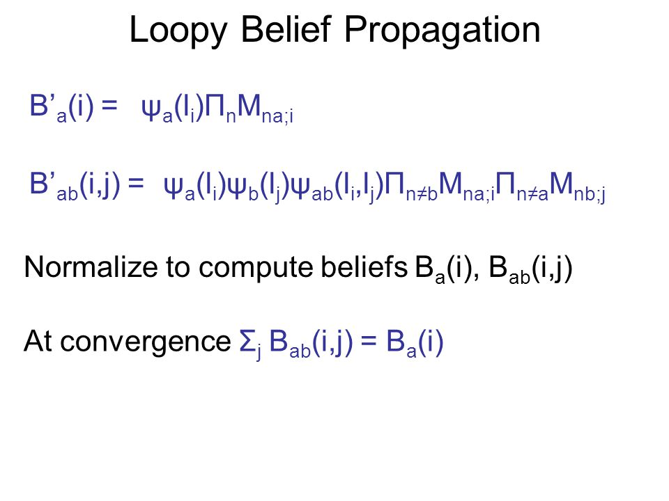 Outline Free Energy Mean-Field Approximation Bethe Approximation Kikuchi Approximation Yedidia, Freeman and Weiss, 2000