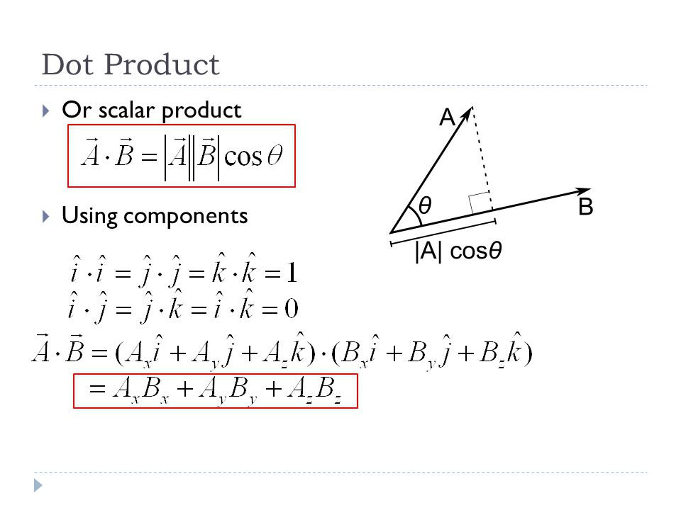 Example  What is the angle between the vectors Compute up to 3 sig figs.  Solution