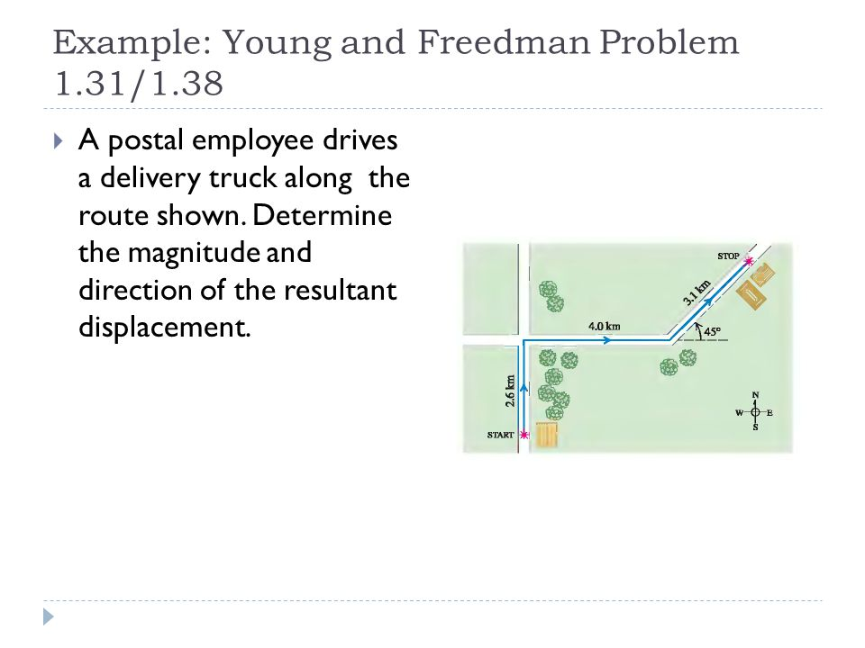 Example: Young and Freedman Problem 1.31/1.38