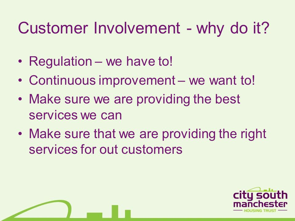 Customer Involvement – what is it.
