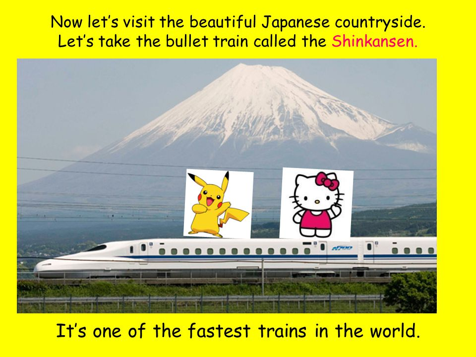 Now let's visit the beautiful Japanese countryside.