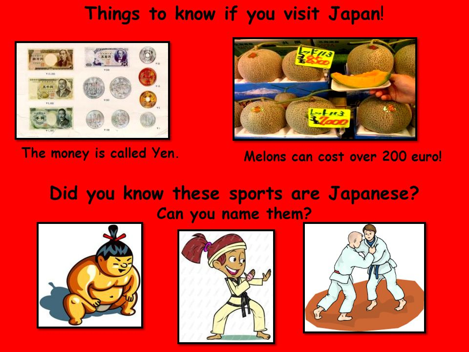 Things to know if you visit Japan.Did you know these sports are Japanese.