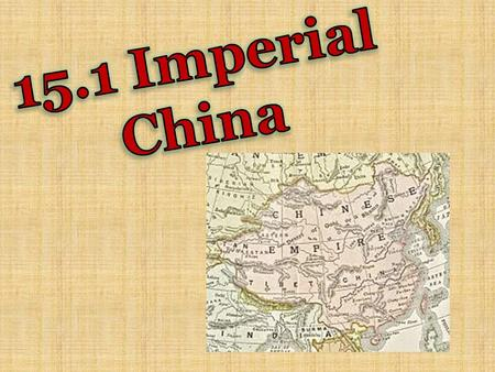 For 300 years, China had no central government. The country collapsed into separate kingdoms and the Chinese people suffered hardships.