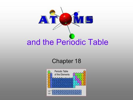 And the Periodic Table Chapter 18. Section 1: Structure of the Atom Scientific Shorthand –Chemical symbols consist of one capital letter or a capital.