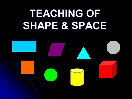 TEACHING OF SHAPE & SPACE. YEAR 4 Curriculum Specifications: 9.0 Shape and Space 9.1 Two dimensional shapes 9.1.1 Understand the perimeter of a two-dimensional.