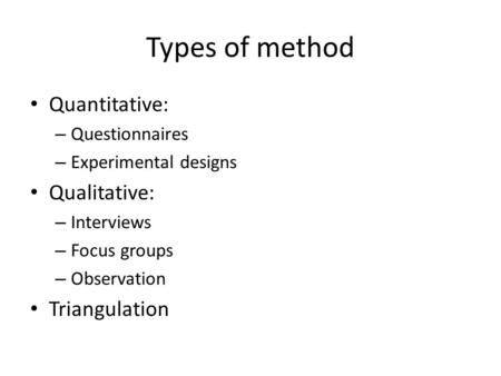 Types of questionnaires in research