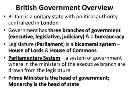 westminster model of british government Westminster system essay  and thus reflected aspects of the british parliamentary system of government  changed much from the westminster model,.