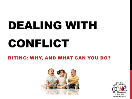 DEALING WITH CONFLICT BITING: WHY, AND WHAT CAN YOU DO?
