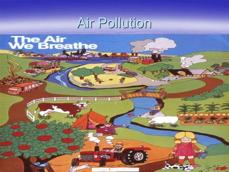 Air Pollution. AIR POLLUTION  Clean Air made up mostly of nitrogen & oxygen with some traces of argon, carbon dioxide, water vapor  Air Pollution results.