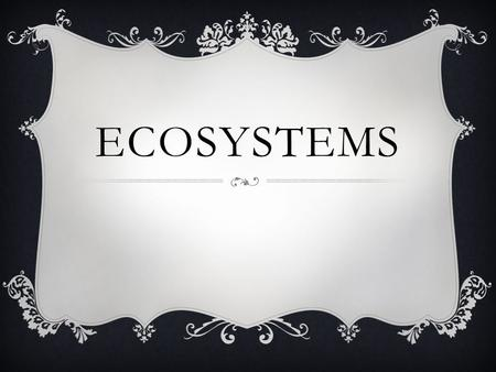 ECOSYSTEMS. WHAT IS ECOLOGY?  Ecology is the study of relationships between living things and between living things and their environment.