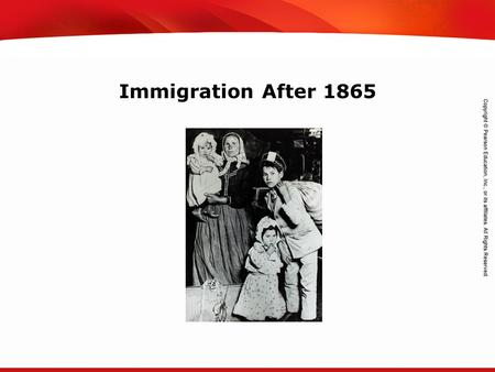 TEKS 8C: Calculate percent composition and empirical and molecular formulas. Immigration After 1865.