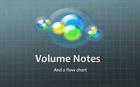 Volume Notes And a flow chart. Define Volume Volume is the amount of space an object takes up or… Volume is the amount of space an object takes up or…