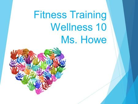 Fitness Training Wellness 10 Ms. Howe.  Functional capacity: improved cardiac ability to accomplish common tasks  Sustainable endurance: improved ability.