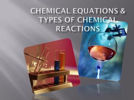  In a chemical reaction, one or more substances change into new/different substances  According to the Law of Conservation of Mass a skeleton chemical.