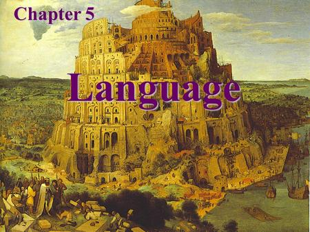 Language Chapter 5. World Language Families Language – a set of sounds, combinations of sounds, and symbols that are used for communication.
