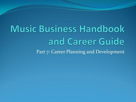 Part 7: Career Planning and Development. Chapter 26.