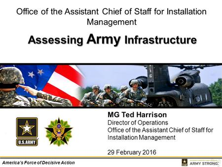 Assessing Army Infrastructure
