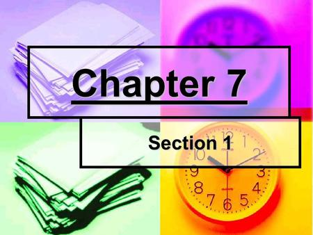 Chapter 7 Section 1. Perfect Competition Perfect competition exists with these 5 conditions: Perfect competition exists with these 5 conditions: Large.
