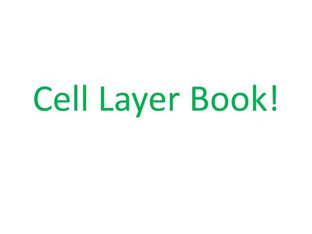 Cell Layer Book!. Draw one organelle on one sheet of clear paper, starting with the cell wall. ** USE a different color sharpie for each page Place the.