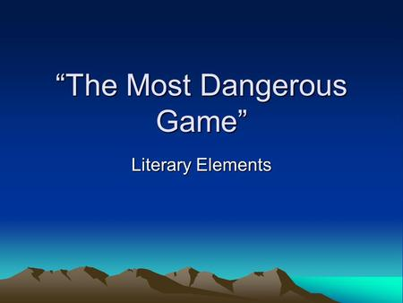 factors of suspense in the most dangerous game essay - suspense is one of the deciding factors of what makes a good mystery novel  suspense in the most dangerous game - suspense,  - in this essay,.