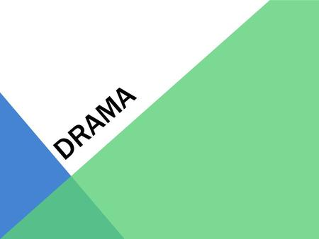 DRAMA. WHAT IS A DRAMA? A drama is a story acted out in front of an audience. A drama can be serious or funny A drama can use actors, puppets, dance,