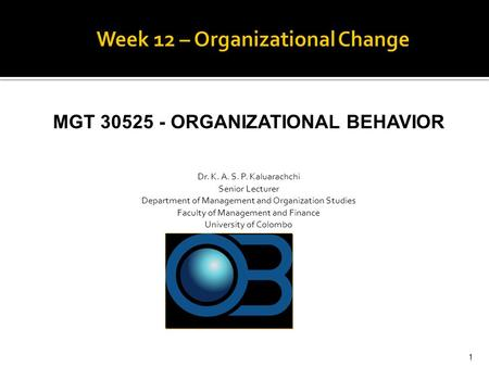 organization that is experiencing change