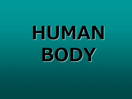 HUMAN BODY. I. The Human Body A. Introduction Humans are the most complex organisms on Earth, and every cell in the human body must work together to keep.