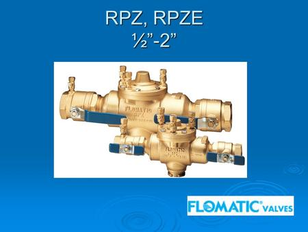 "RPZ, RPZE ½""-2"". Modification Overview  Production of the model RPZ began in 1993.  The lead free version ( RPZE ) was introduced in 2002 and is current."