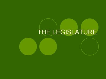 THE LEGISLATURE. INTRODUCTION Government is one of the essential elements of state. Generally usage of word 'Government' with reference to executive.