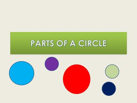 The midpoint of a circle is centre The line drawn from the centre to the circumference is … radius.