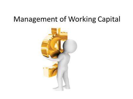Management of Working Capital. Balance Sheet A financial statement that summarizes a company's assets, liabilities and shareholders' equity at a specific.
