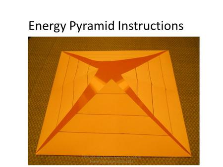 Energy Pyramid Instructions EPISD Middle School Science Standards Based Curriculum 2013-2014.