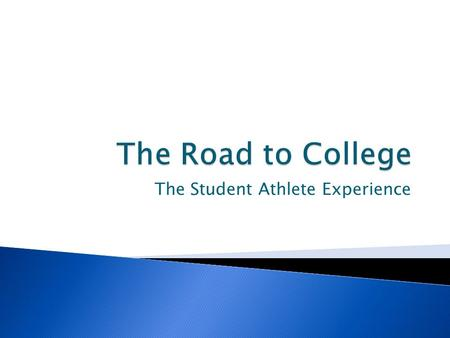 The Student Athlete Experience.  Answer the following Questions: ◦ What should I be doing now? ◦ What are the eligibility requirements?  NCAA, NAIA,