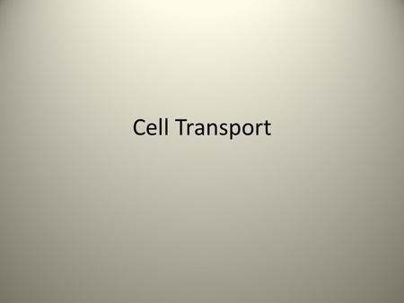Cell Transport. Homeostasis Maintaining internal equilibrium by adjusting physiological processes How do you maintain homeostasis???
