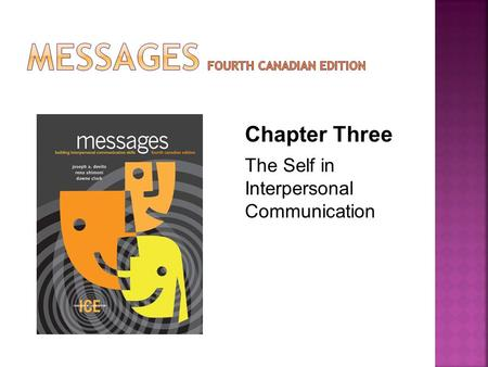 Chapter Three The Self in Interpersonal Communication.